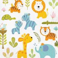Contiene : 1 x 16 Tovaglioli Happy Jungle