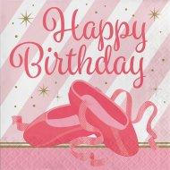 16 Tovaglioli Happy Birthday Ballerina Stella