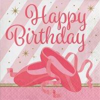Contiene : 1 x 16 Tovaglioli Happy Birthday Ballerina Stella