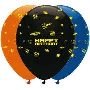 6 Palloncini Happy Birthday Spazio
