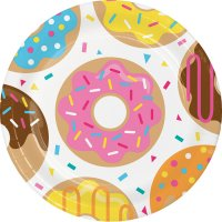 Contiene : 1 x 8 Piatti Donuts Party