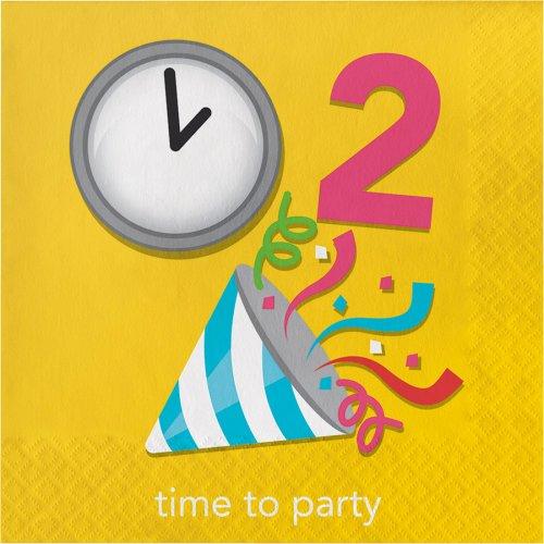 "16 Tovaglioli rebus ""Time to Party"""