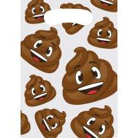 Contiene : 1 x 8 Sacchetti regalo Emoji Cacca