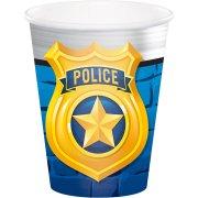8 Bicchieri Pattuglia di Polizia
