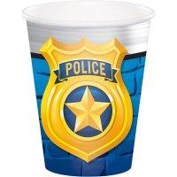 Contiene : 1 x 8 Bicchieri Pattuglia di Polizia