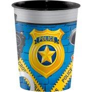 Bicchiere Pattuglia di Polizia formato grande (47 cl) - Plastica