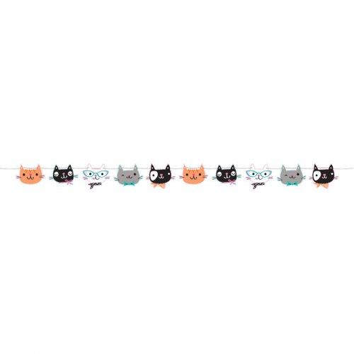 Ghirlanda bandierine gatto (1,67 m)