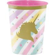 Bicchiere Unicorno Rainbow Pastello formato grande (47 cl) - Plastica