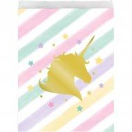 10 Sacchetti regalo Unicorno arcobaleno pastello