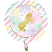 Palloncino piatto Unicorno Rainbow colori pastello