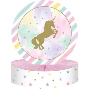 Centrotavola unicorno arcobaleno pastello