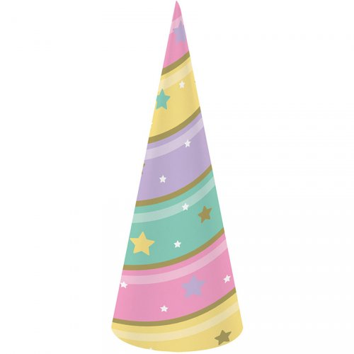 8 Corni Unicorno Rainbow colori pastello