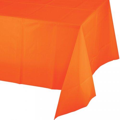Tovaglia arancione (2,74 m) - Plastica