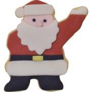 Tagliabiscotti Babbo Natale Oh Oh OH (8 cm) - Rosso