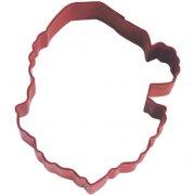 Tagliabiscotti testa Babbo Natale (9,5 cm) - Rosso