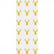 20 Sacchetti in cellofan Renna oro