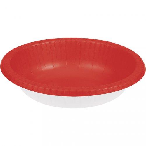 20 piatti fondi Rosso Babbo Natale (18 cm)