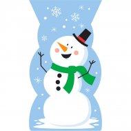 20 Sacchetti in cellofan Pupazzo di neve