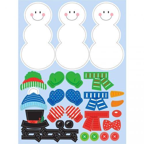 4 fogli adesivi per pupazzo di neve