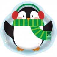 Ampio vassoio Pinguino in plastica (36 cm)