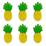 6 Ananas 2D (4 cm) - Pasta di zucchero