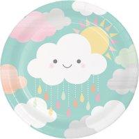 Contiene : 1 x 8 Piatti Nuvole Baby