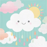 Contiene : 1 x 16 Tovaglioli Nuvole Baby