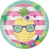 Contiene : 1 x 8 Piatti Ananas Party