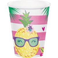 Contiene : 1 x 8 Bicchieri Ananas Party