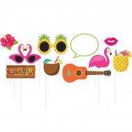Kit 10 Cornice Photo Booth Ananas Fun