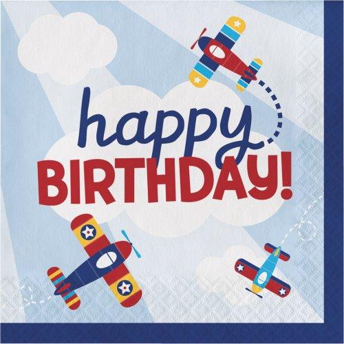 16 Tovaglioli Happy Birthday Compagnia Aerea