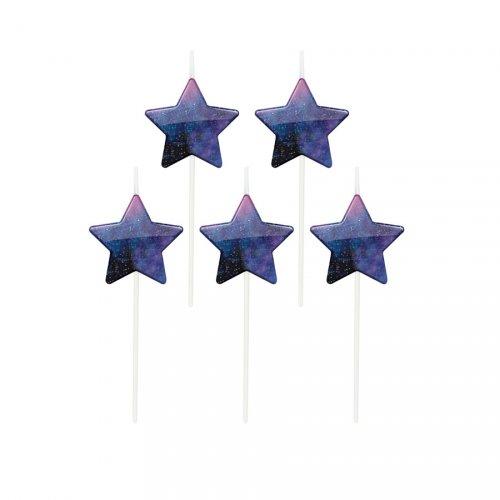 5 mini candele Stelle Galassia