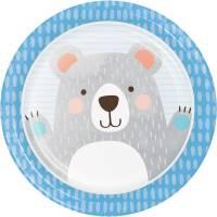 Contiene : 1 x 8 Piatti Baby Orso