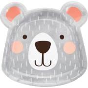 8 Piatti Testa Baby Orso