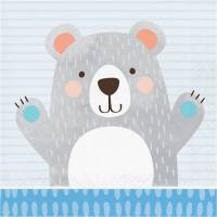 Contiene : 1 x 16 Tovaglioli Baby Orso