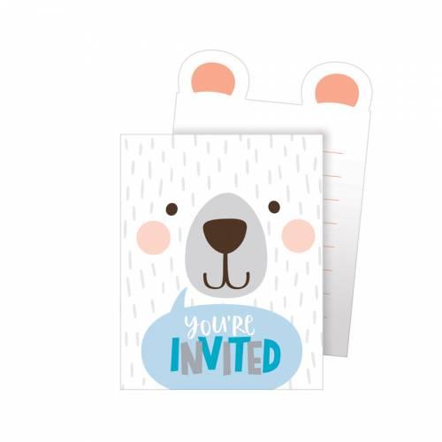 8 Inviti Baby Orso