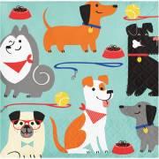 16 Tovagliolini Dog Party