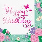 16 Tovaglioli Birthday Fata Floreale