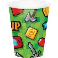 Contiene : 1 x 8 Bicchieri Game Party