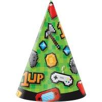 Contiene : 1 x 8 Cappelli Game Party
