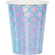 8 Bicchieri Sirena iridescente