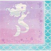 16 Tovaglioli Sirena iridescente