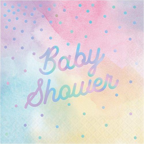 16 Tovaglioli Baby Shower Pastello iridescente