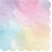 16 Tovaglioli Pastello iridescente