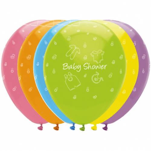 6 Palloncini Baby Shower Rainbow