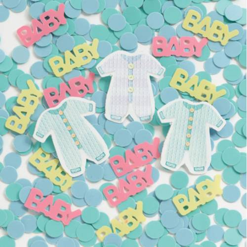 Coriandoli - Scritta baby shower arcobaleno