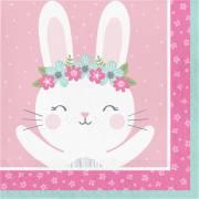 16 Tovaglioli Coniglio Felice