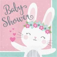 16 Tovaglioli Coniglio Felice - Baby Shower