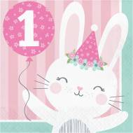 16 Tovaglioli Coniglio Felice - 1 anno
