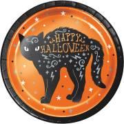8 Piattini Gatto - Halloween